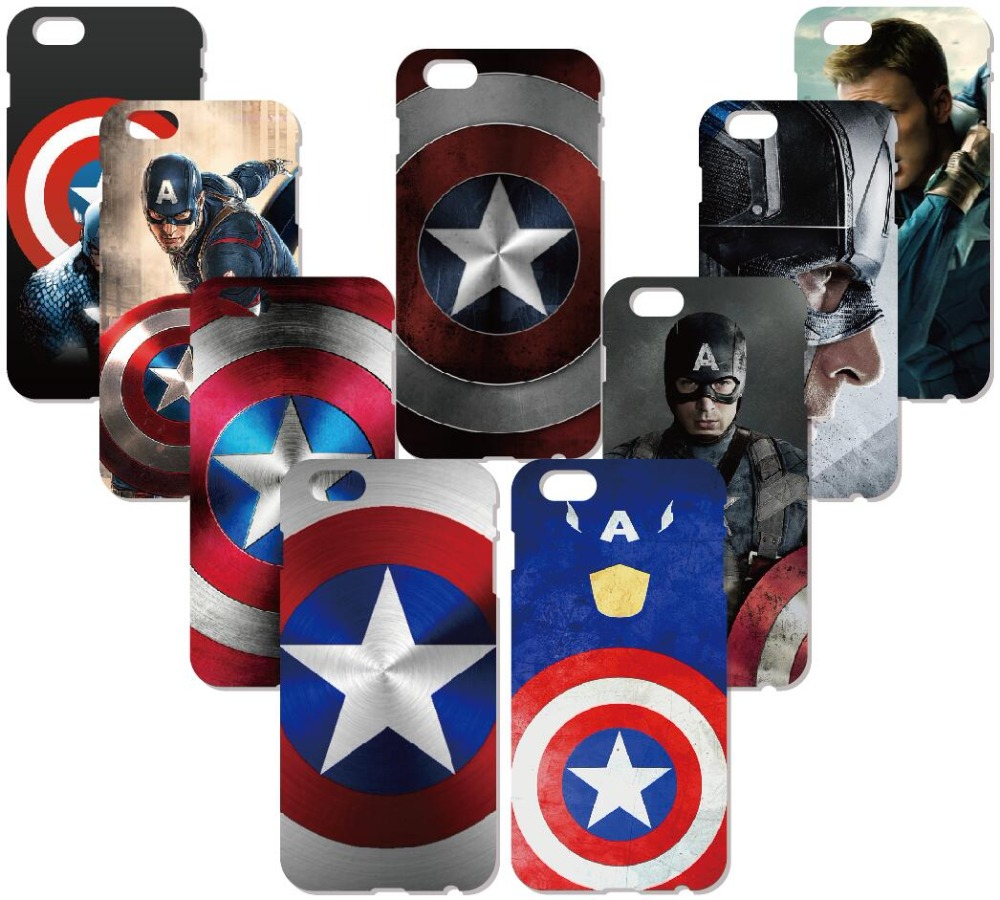Captain America Logo Cover For iphone X 4 4S 5 5S SE 5C 6 6S 7 8 Plus For iPod Touch 5 6 Hard Phone Case Capa Coque Shell Fundas
