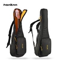 Hanknn 21 23 24 26 Inches Ukulele Bag Sponge Padded Bag Acoustic Mini Guitar Uke Guitar