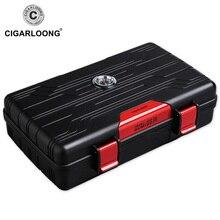 CIGARLOONG Cigar Box Travel Portable 10 sticks Moisturizing Case Humidor CA-01