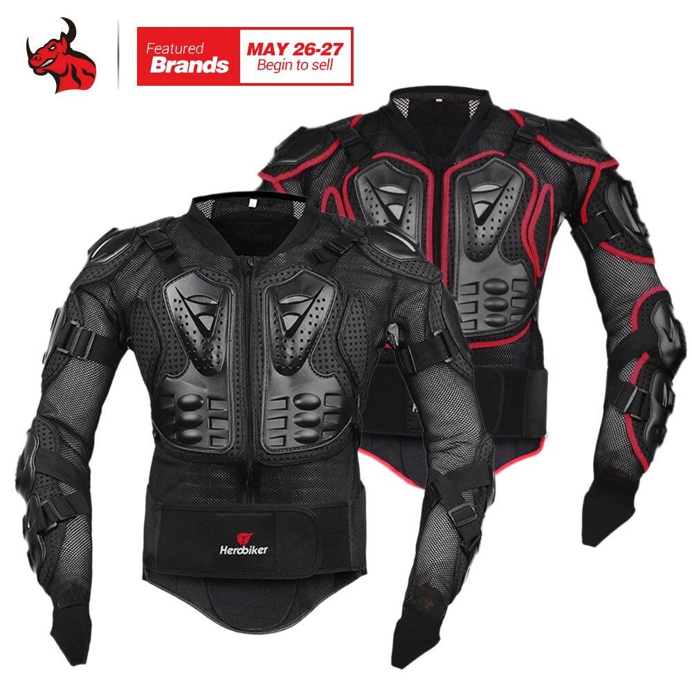 HEROBIKER Giacca Moto Equipaggiamento Protettivo Motocross Gear Armatura Cassa Corpo Motor Rider Giacca Moto Da Corsa Giacca di Protezione
