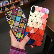 exotic gold foil case for iphone 8 plus 7 6 6s colorful pattern soft rubber back cover xr xs xsmax glitter plaid