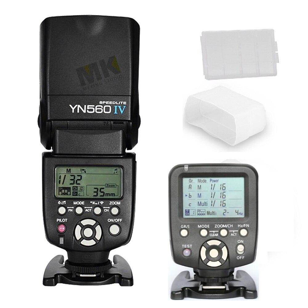 Yongnuo YN560-TX Sans Fil Flash Contrôleur + Blitz YN560IV Flash Speedlite pour Nikon Canon DSLR Caméras 5D 60D 5D2 6D