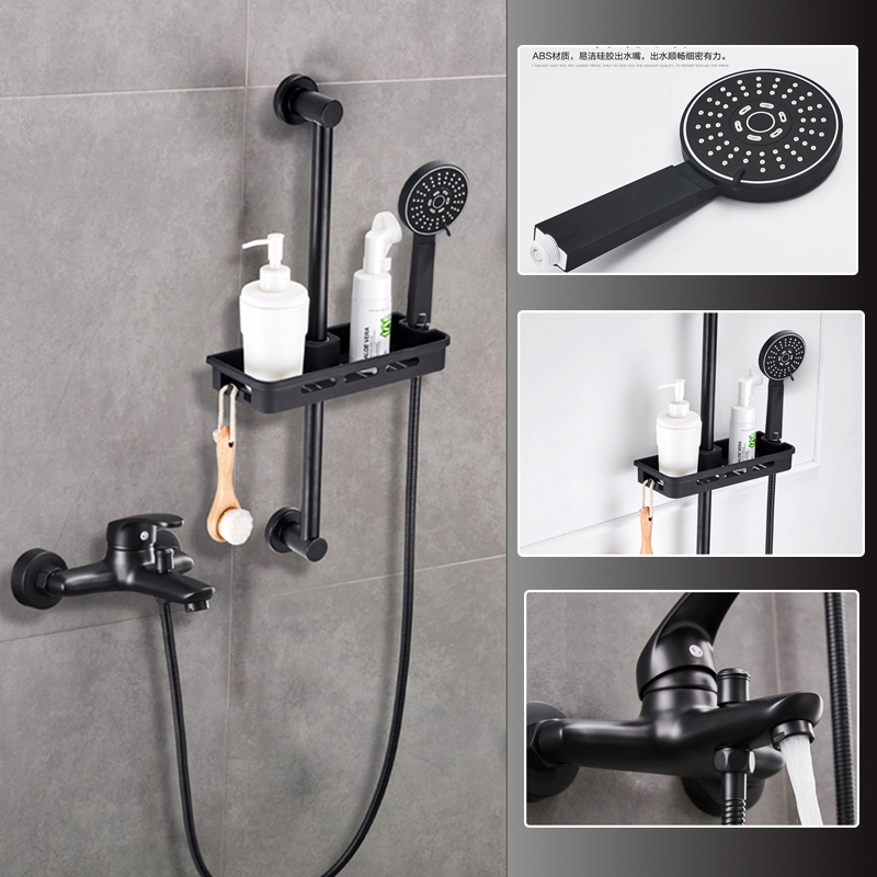 Single Lever Bathroom Tub Shower Faucet Set With Slide Bar