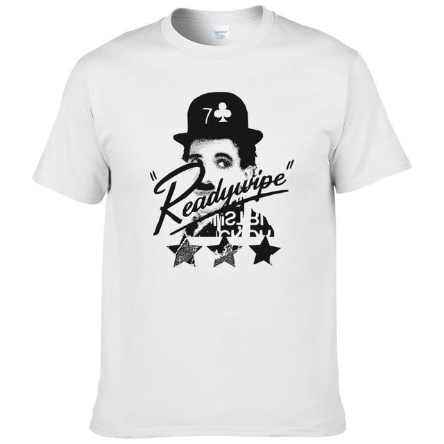 7ed707678031b0 Humor master Chaplin T-shirt Mannen 2017 Zomer Katoen Korte Mouw Gedrukt  T-Shirt