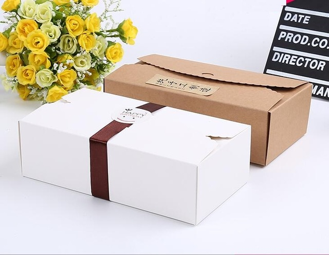 20 11 6cm Large Brown Paper Gift Box Kraft Cardboard Wedding Favor