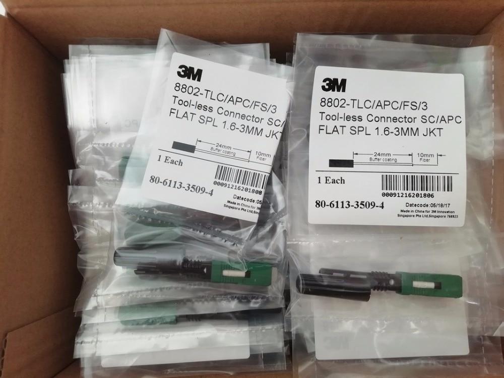 100 pcs 3 m 8802-TLC/3 Fiber Optique Rapide Connecteur Monomode SC APC fiber optique connecteur rapide SC rapide connecteur