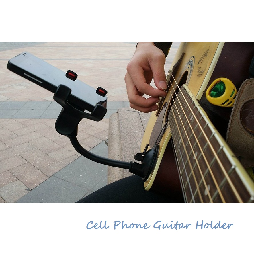 Phone Holder Stand for Guitar Street Singing lyrics Song Car Holder Sucker Suction Cups Musicians Guitar Stand Car Holder Mobile