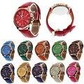 Лучшие Продажи Наручные часы для Женщин Моды Женева Римские цифры Дешевые Часы Кожа Кварцевые Часы Женские Часы Reloj Mujer