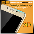 Premium HD Colors Carbon Fiber soft edge 3D Curved full cover Tempered Glass Screen Protector film For Samsung Galaxy C5 C7