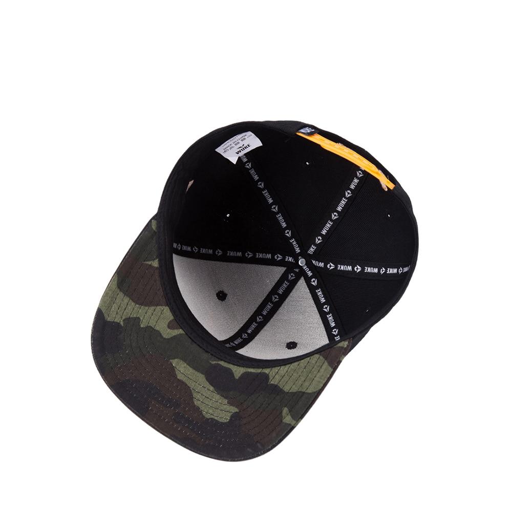 WUKE Cotton Gorras Planas Snapback Dad Hats Sun Visor Baseball Cap Weed  Flat Eave Hip Hop a5716cca85a