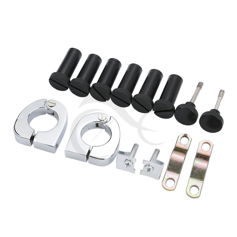 Quick Release Mounting Hardware Kit For Harley Touring Road King Street Electra Glide FLT FLHT FLHTCU 2014-2018