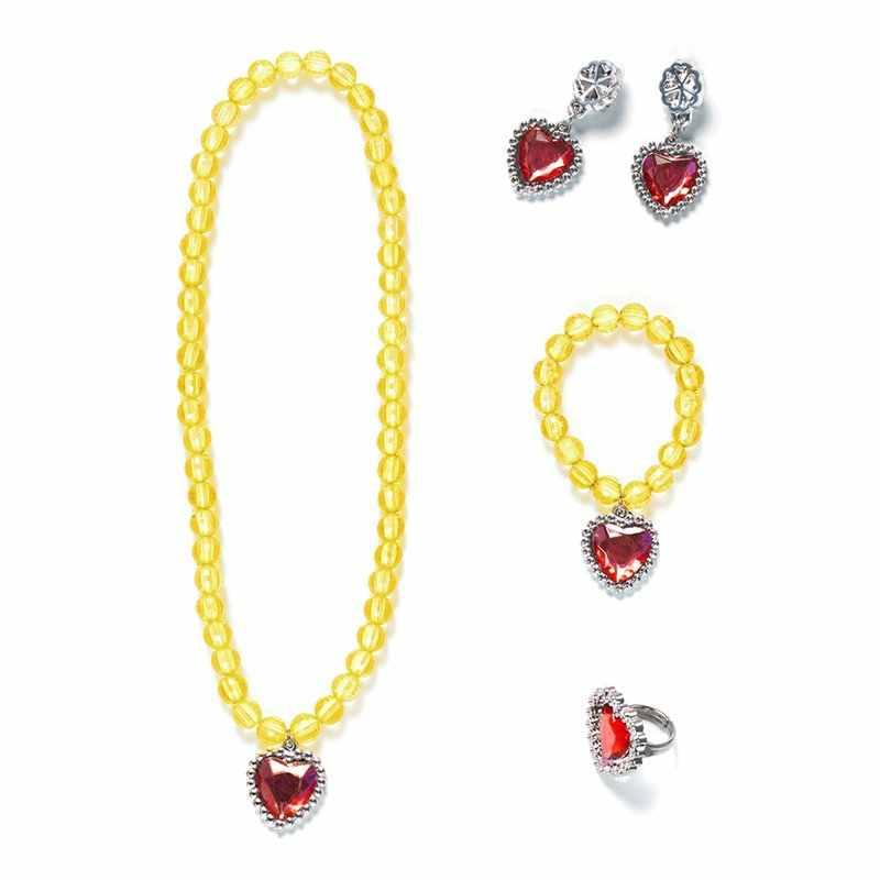 VOGUEON 5 шт. принцесса одеваются вечерние аксессуары девушки 4 цвета ожерелье браслет, серьги, кольцо Хэллоуин косплей поставщиков