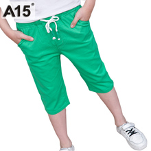 A15 Boys Pants Summer 2017 Fashion Boys Trousers Children Casual Short Pants Kids Clothes Brand Teens Big Size 6 8 10 12 16 Year
