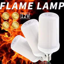 LED Flame Bulb E27 Fire Lamp 12V E14 Effect Candles Home Decoration E26 Flickering Burning Holiday Light