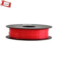 2017 Hot Sale!!! Red color 3D Printer Filament PLA/ABS 1.75mm 1KG/Roll Consumables Material MakerBot/RepRap/UP/Mendel