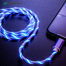Flowing LED Glow Data USB Cable Charger Type C/Micro USB/8 Pin Charging Cable for iPhone X samsung Galaxy S9 S8 Charge Wire Cord стоимость