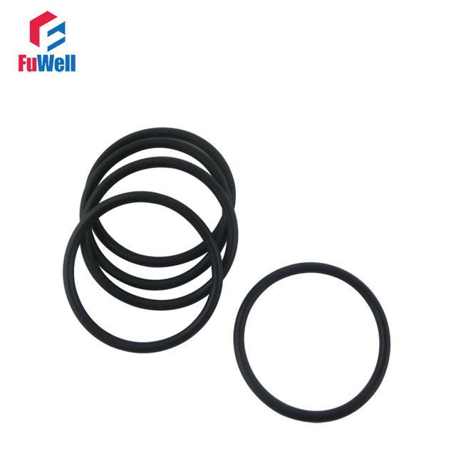 100pcs 3.5mm Thickness O ring Seal Black Rubber24/25/26/27/28/29/30 ...