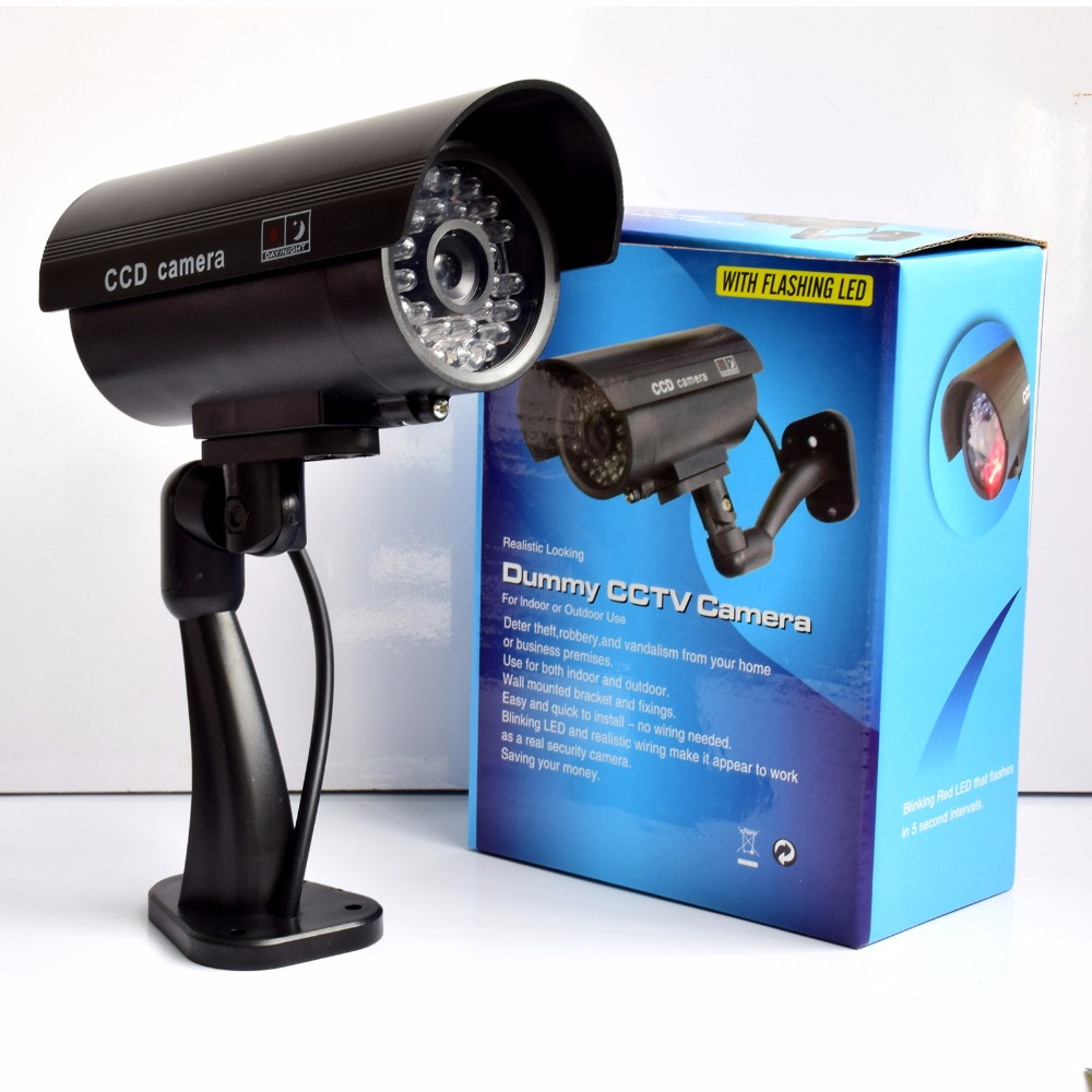 Waterproof Dummy Cctv Camera With Flashing Led For Outdoor Or Indoor Wiring Home Realistic Looking Fack Security In Alarm System Kits From