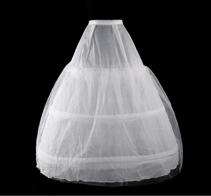Medieval Victorian Petticoat White 3 Hoop Skirt Wedding Petticoat For Women One Size