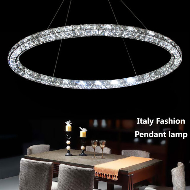 Yu Hua S First Three Surface Crystal Oval Halo Led Lamp Bedroom Simply Decorated Restaurant Bar Chandelier Lighting