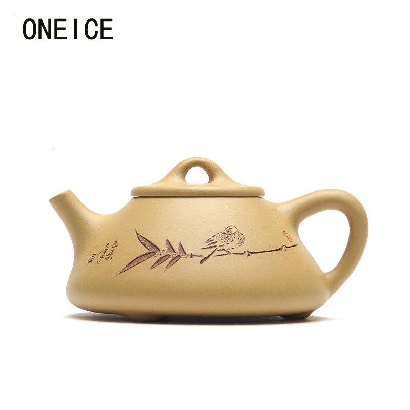Feitas à mão conjunto de Chá Yixing Yixing Bule Pedra colher pote lama segmento bules Autor: fanyue Duan Liang 210ml Chinês Yixing Teaware 210ml