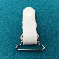 30 шт./лот 25 мм белый + серебристый зажим для чулок съемная пряжка Вышивание аксессуары для одежды чулки зажимы