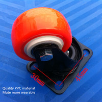 Casters Casters 1 5 Inch New PVC Double Bearings Mute Wear Furniture Small Wheels Industrial Wheels