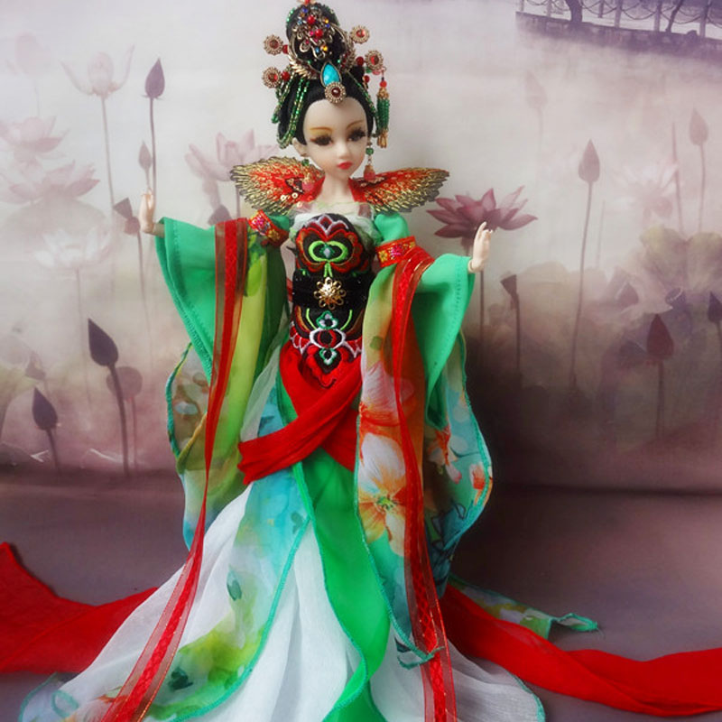 31cm Handmad Chinese Costume Dolls-Fairy Peacock 12 Jointed Moveable Bjd 1/6 Princess Doll Girls Christmas Gifts Toys Decoration handmade ancient chinese dolls 1 6 bjd jointed doll empress zhao feiyan dolls girl toys birthday gifts