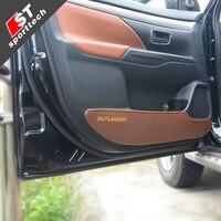 PU interior door kick pad anti slip pad car styling for 2013 2016 Mitsubishi Outlander Car styling