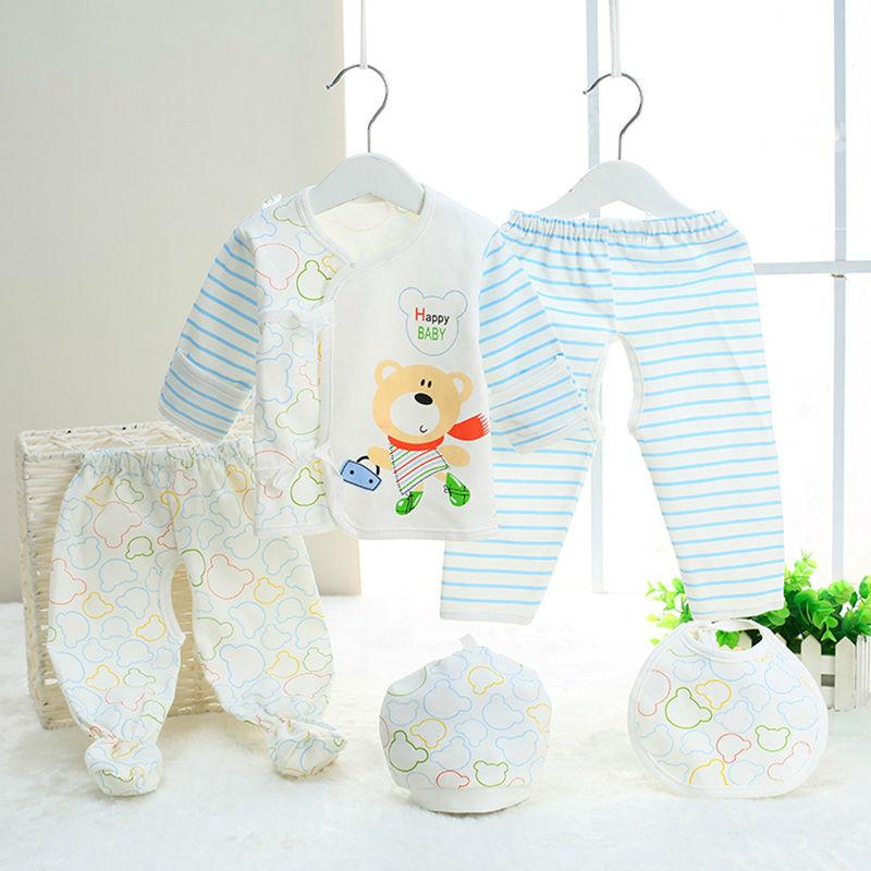 (2pcs/5pcs/set)Newborn Baby 0-3M Clothing Set Brand Baby Boy/Girl Clothes 100% Cotton Cartoon Underwear Cute Erkek Bebek Giyim