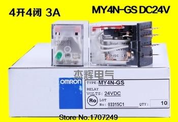 Free Shipping new original relay 10pcs/lot  MY4N-J-24V MY4-GS-24V MY4N-GS-24VDC MY4-J-24VDC  MY4N-J MY4N-GS 24VDC 14PIN