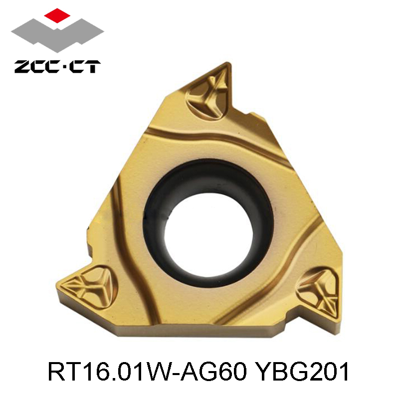 Zhuzhou Diamond CNC Blade RT16 01W AG60 YBG201 G60P AG55 G55 original ZCC CT carbide threading
