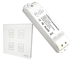 Nieuwe EDA4 Dali Led dimmer 4 Kanaal Dali Led Controller Aan/Uit Schakelaar Wall Mount Touch Panel Dali Dimmer en Led power driver