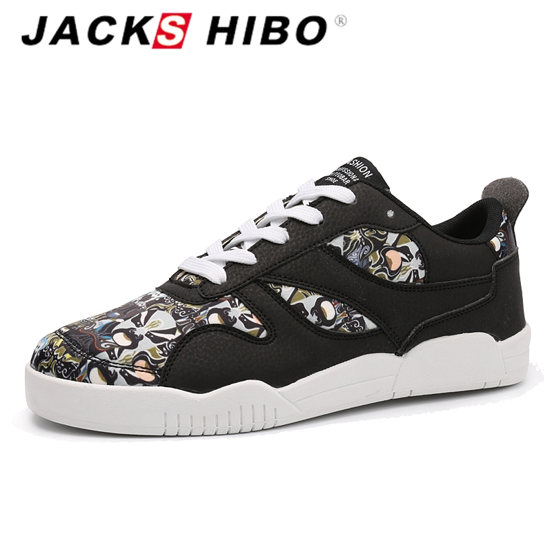 jackshibo 2016 marque chinois traditionnel hommes casual chaussures mode visage impression plat. Black Bedroom Furniture Sets. Home Design Ideas