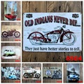 20X30 cm/ Cars INDIAN motorcycle antique retro metal tin signs Iron painting crafts vintage home wall decoration