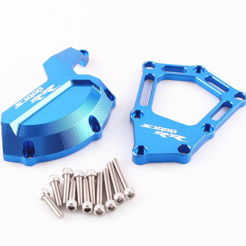 Engine Saver Stator Case Guard Cover Slider Protector For BMW S1000RR S 1000 RR 2009-2014 Aluminum Motorcycle Accessories Blue arashi motorcycle radiator grille protective cover grill guard protector for 2008 2009 2010 2011 honda cbr1000rr cbr 1000 rr