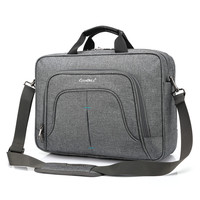 Water Resistant Black Grey Laptop Briefcase Bag Shockproof Protective Carrying Case With Detachable Shoulder Strap For