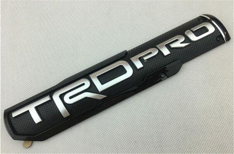 Badge de côté en plastique ABS | Autocollant adapté à la Tundra TRD PRO, style de voiture 25*5cm, argent noir rouge ABS, emblème de garde-robe en plastique, 100 pièces