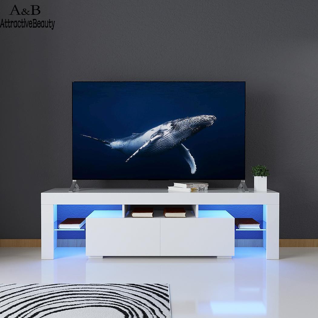 Gloss High LED TV Stand Modern LED Living Room Furniture TV Cabinet
