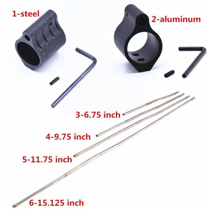 Mikro tüfek gaz bloğu tüp düşük profil. 750 5.56 223 çelik rulo Pin taktik 0.75 inç Dia fit M4 AR15 rulo Pin