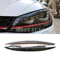 For Volkswagen Golf 7 GTD Mk7 Carbon Fiber Headlight Eye Lid Eyebrow Cover 2013 2018 2pcs