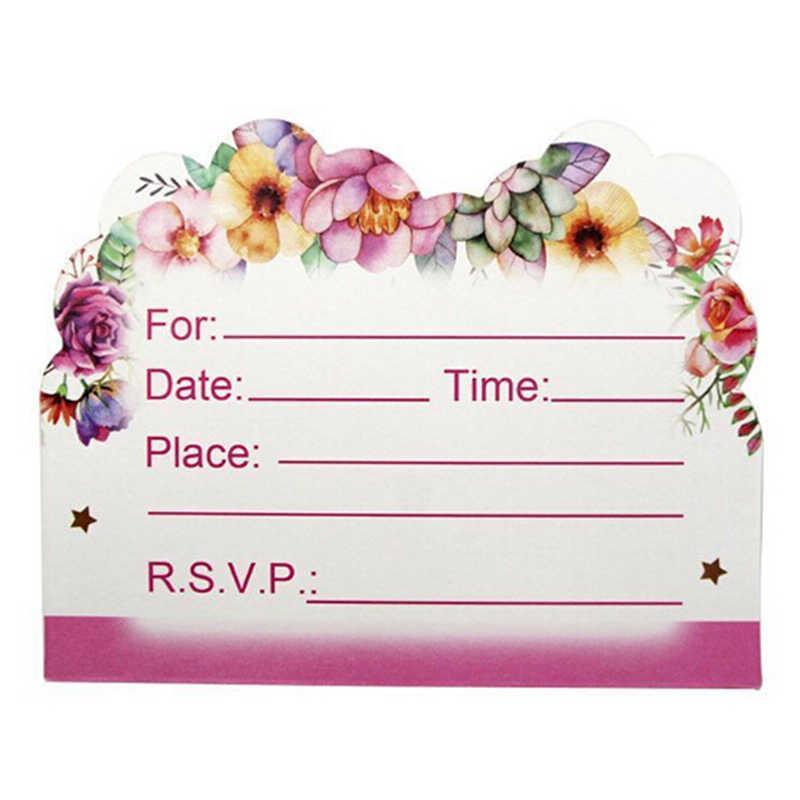 10Pcs Lot Hot Sale Kawaii Unicorn Invitation Card Horse Kids Birthday Party Supply Event