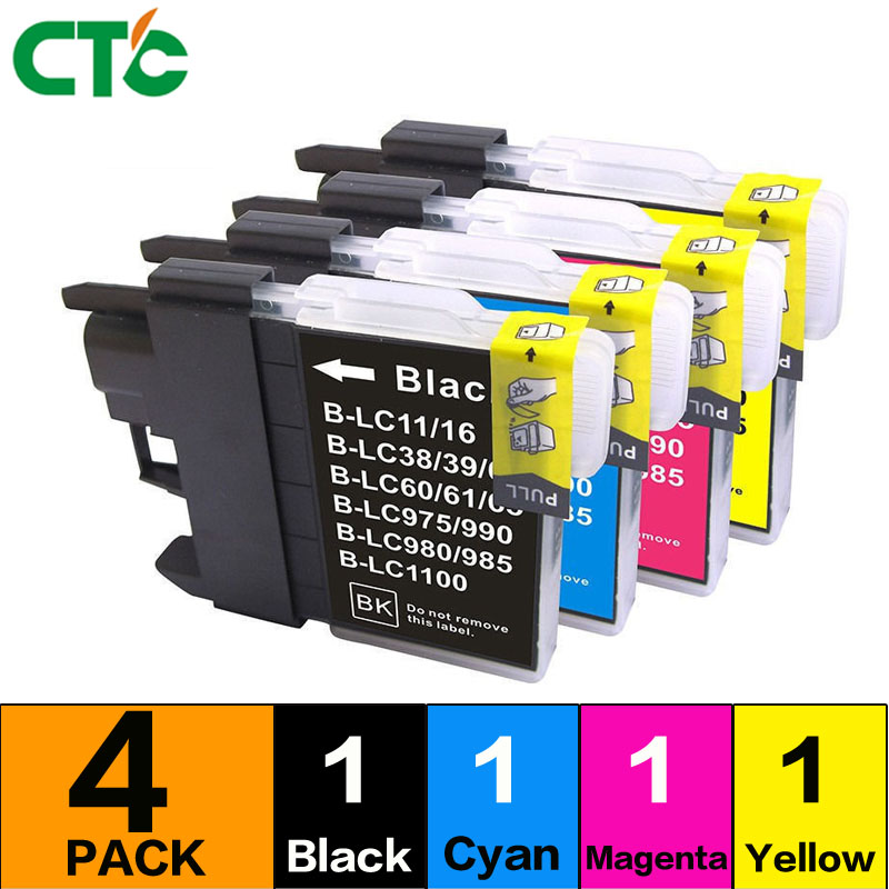 1 Satz Kompatibel Für Brother Lc 1100 Lc11 Lc16 Lc38 Lc65 Lc67 Lc980 Tinte Patronen Drucker Dcp 385c Dcp-390cn 395cn 535cn 585cw