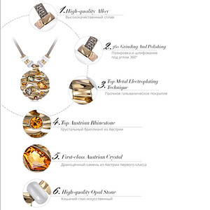 Image 5 - Viennes zestaw biżuterii kolorowe kryształy naszyjnik i kolczyki zestawy biżuterii dla kobiet Fashion Design zestaw biżuterii