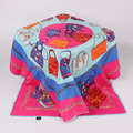 Fashion Silk Twill Hijab Muslim Teenager Hijab Cute Shawl