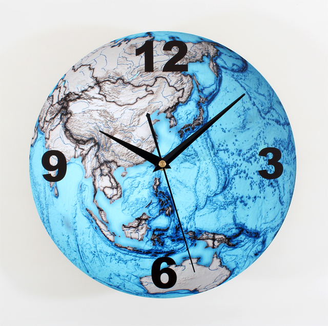 Wall clock beautiful blue earth solid earthmap of fashion creative wall clock beautiful blue earth solid earthmap of fashion creative art wall clock bell wall world gumiabroncs Images