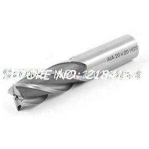 Helical Groove 4 Flutes 22mm Cut Diameter HSS Cutter End Mill 105mm Length