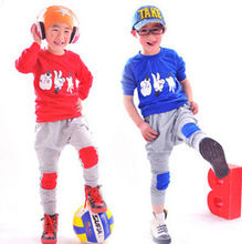Cool Finger Games Kids Boys Long Sleeve Coat +Pants Trousers Sets Cotton Outfits