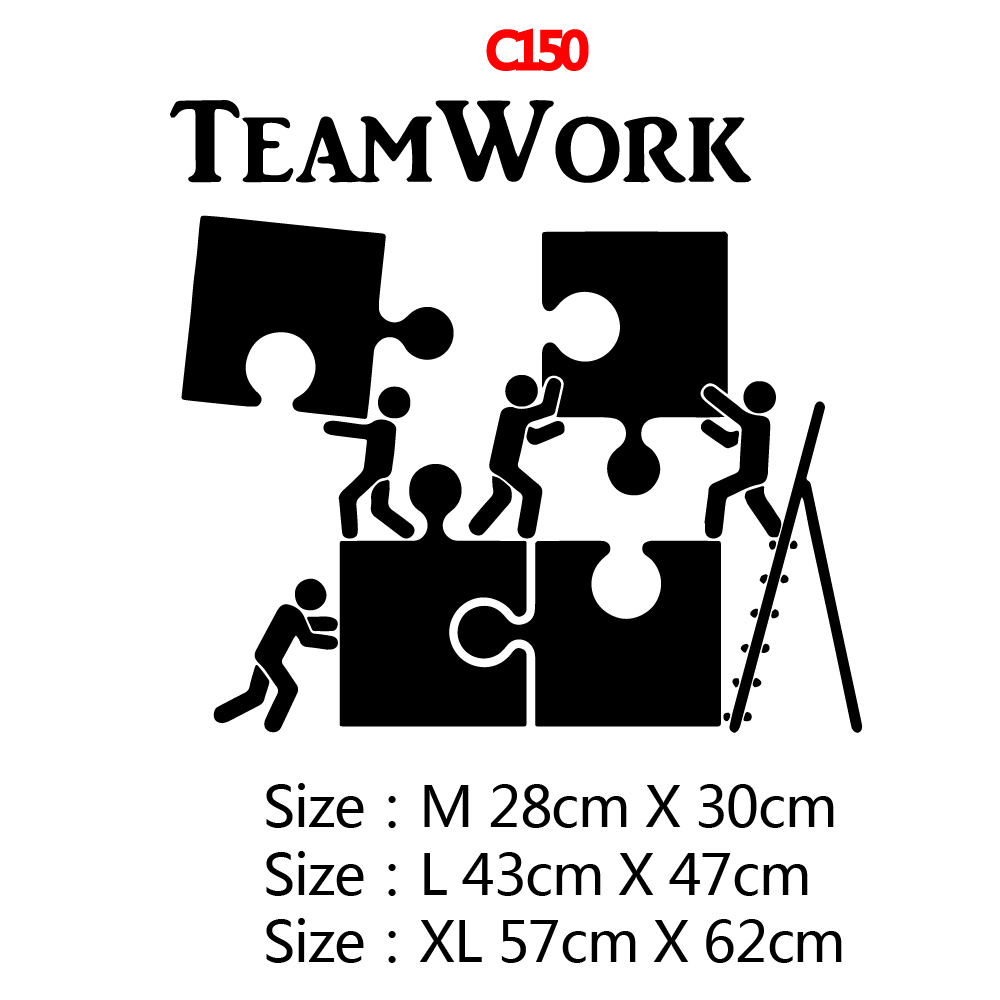 Drop Shipping Team Work Wall Sticker Pvc Removable for Living Room Company School Office Decoration Removable Mural