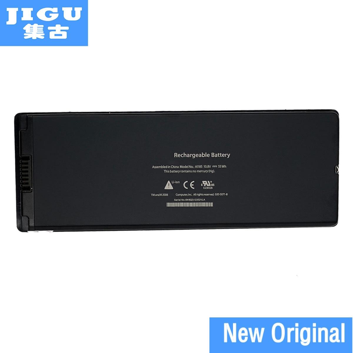 JIGU A1185 MA561 Original Laptop Battery For APPLE MacBook 13 A1181 MA254 MA255 MA699 MA700 MB061*/A MB062*/A White wholesale new laptop battery for apple macbook 15mb986x a mb986zp a mc118 mc118 a mc118ch a mc118j a mc118ll a free shipping